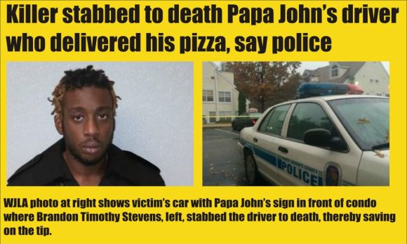 Papa Johns driver stabbed to death in PG County
