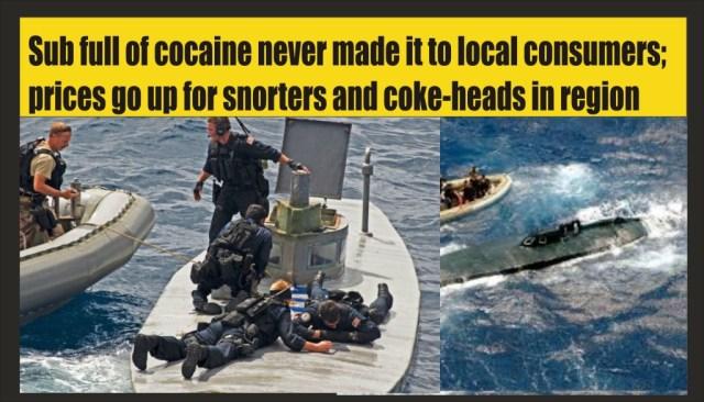 Submarine captain goes to slammer for 2300 kilos of cocaine