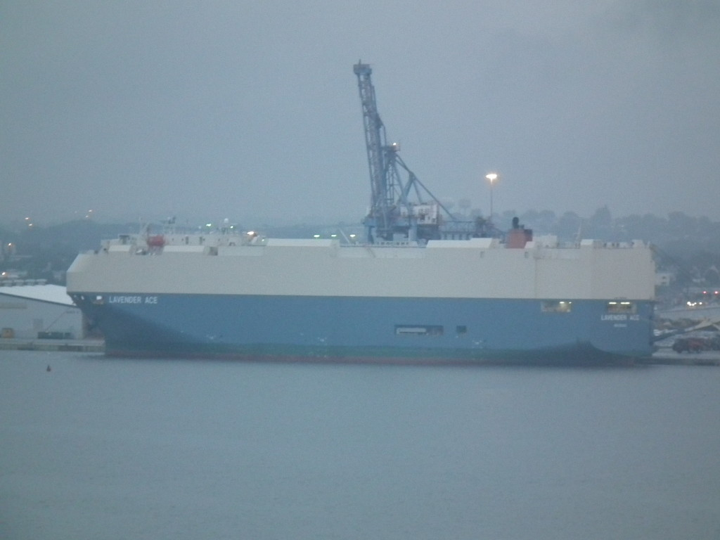 This ship is docked at Baltimore to unload. The port was at the center of a major Federal bust of price-fixing which resulted in hundreds of millions in fines of ocean shippers for rigging prices. One K-Line executive has now been sentenced to Federal prison. THE CHESAPEAKE TODAY  photo