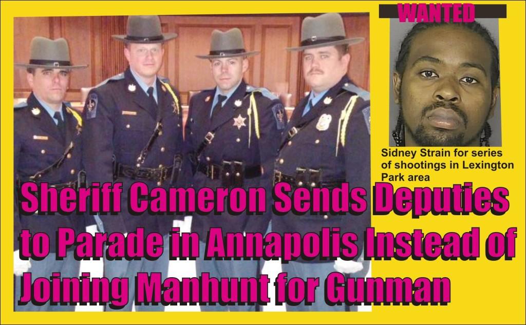 Deputies sent to parade instead of manhunt