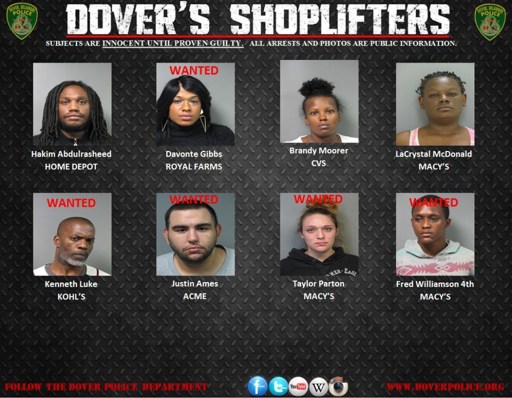 Dover's Shoplifters for 020615