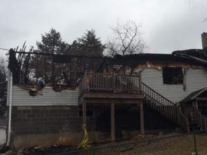House fire at Brooklyn Park killed three including neighbor who tried to save them.  WTOP photo by Nick Lannelli