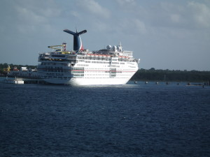 Carnival Ecstasy in port in Cozumel, Mexico THE CHESAPEAKE TODAY photo
