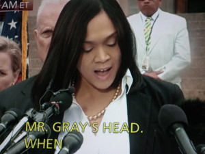 Baltimore City States Attorney Marilyn Mosby announces charges against officers