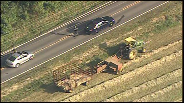 Farmer shot while on tractor in Baltimore County near Glen Arm. Photo courtesy  of WBAL