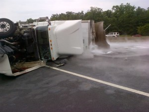Ice truck driver had suspended license wrecked on I 95 photo courtesy of WTVR