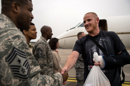 Airman Spencer Stone honored for foiling Islamic Terrorist on French train