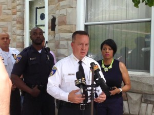 Commissioner Davis and Mayor 'Let 'em destroy' Rawlings-Blake at press conference