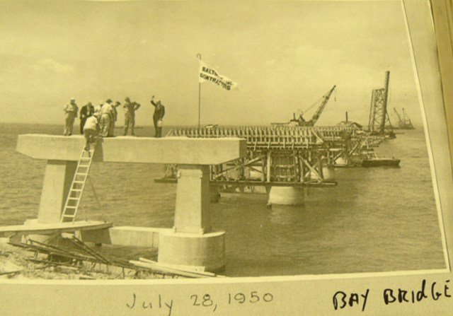 Chesapeake Bay Bridge construction on July 23 1950 Md. DOT photo by Timothy Hyman