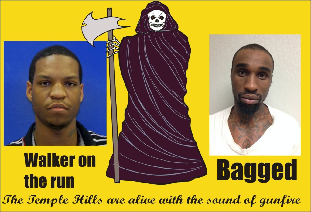 Suggs murder suspects one bagged Walker on the run