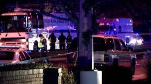 DUI crash scene Rockville Md 120415 Officer Leotta critical. Photo NBC 4 Washington