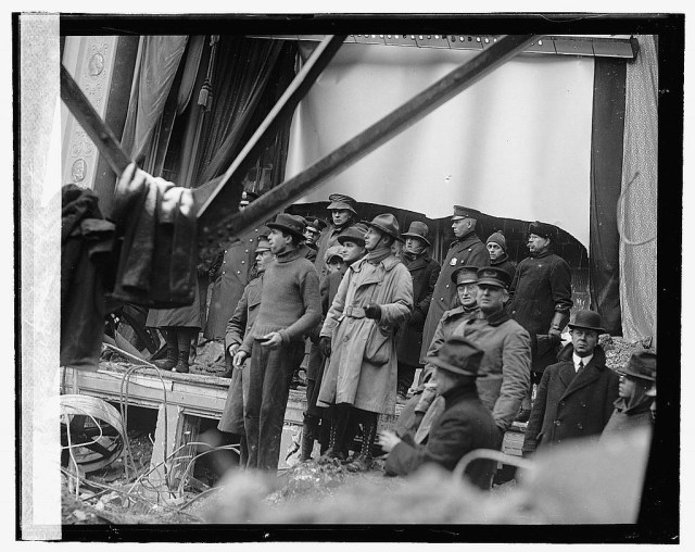 Rescue workers in the Knickerbocker Theater 1922 Washington DC
