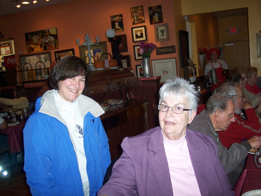 Clare, with St. Mary's School Board Member Cathy Allen.