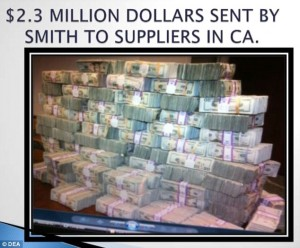 Garrett Smith had this stash of cash in his home when cops raided - just like the over $832,000 seized from the crib of Draco Marshall and Ishmael Ford-Bey  located a block from the home of Vice President Joe Biden.