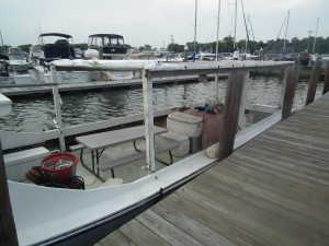 Workboat at rest. THE CHESAPEAKE TODAY photo
