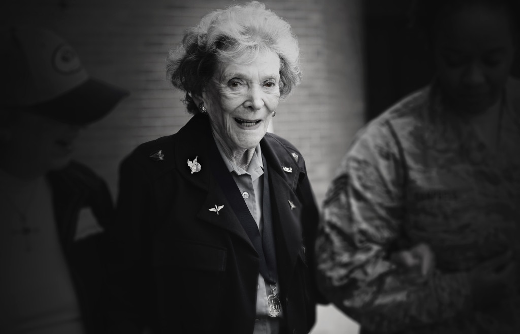"""Bernice """"Bee"""" Falk Haydu, 94, was one of the first women to fly for the U.S. military as a member of the World War II Women Airforce Service Pilots. Haydu was one of the 1,074 qualified women pilots that graduated training between 1942, when the program began, and December 1944, when it was disbanded. After flying for the WASP, she continued a life in aviation by teaching flight lessons."""