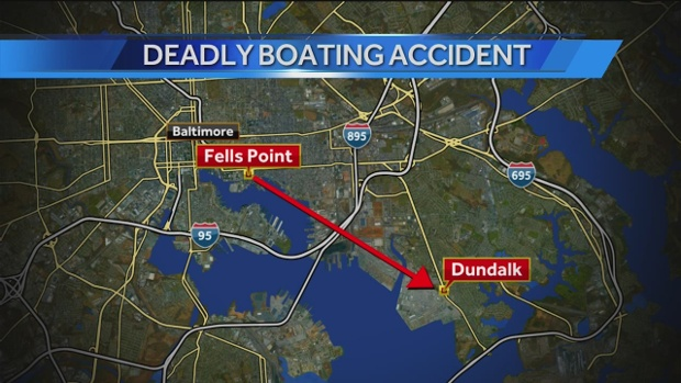Map of deadly boozing boating crash into Key Bridge WBAL
