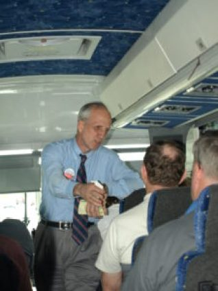 Congressional candidate Collins Bailey led a group of Tea Party activists to Washington to protest the Obamacare mandates and big spending of Democrats.