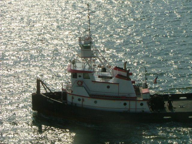 Tugboat Chief at Norfolk, Va. THE CHESAPEAKE TODAY photo