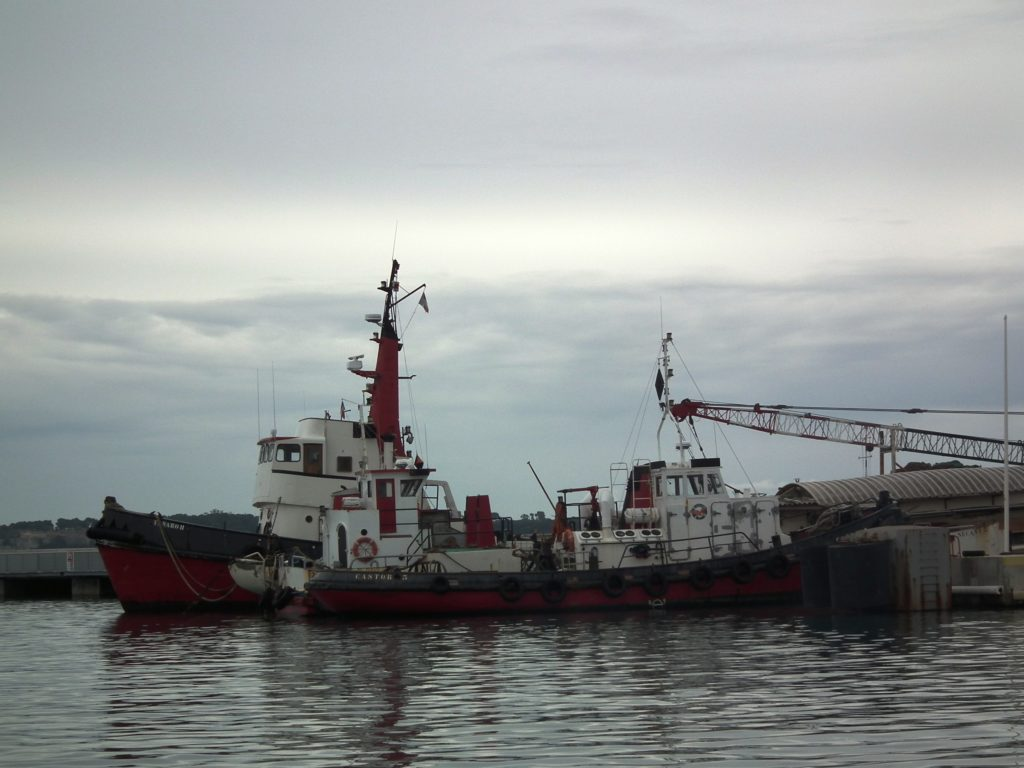 This tugboat is in port at Cannes, France. THE CHESAPEAKE TODAY photo