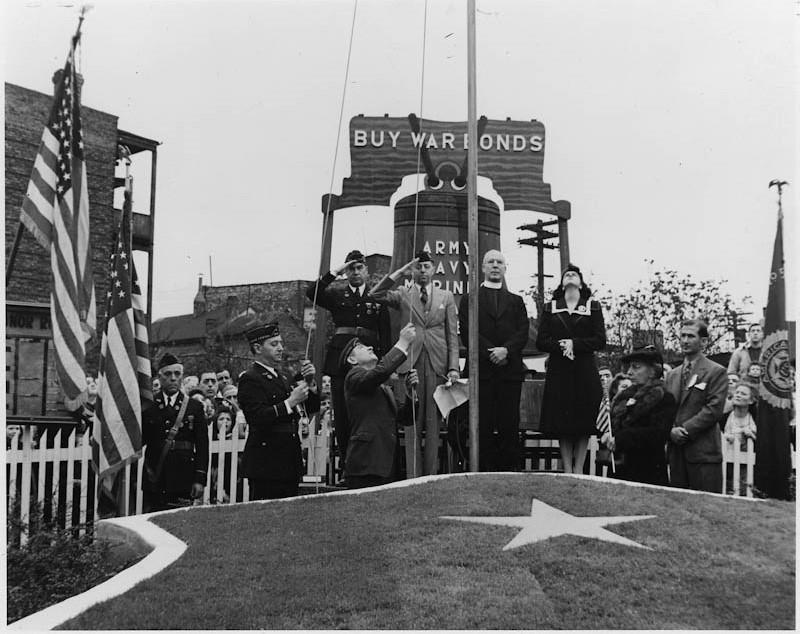 A war bond rally during World War II in 1942