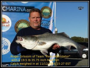 Roger Grissom of the Reel Intimidator won a prize the previous week as well as in the spring.