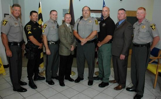Calvert Sheriff Mike Evans and deputies prepare to arrest DWI drivers over Tiki Bar weekend