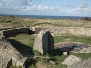 German gun emplacements as they appear today at Normandy. From here, the Germans blasted the armada landing thousands of Allied troops on the bloody beaches. THE CHESAPEAKE TODAY photo