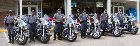 Virginia State Police motor units from Hampton Roads.