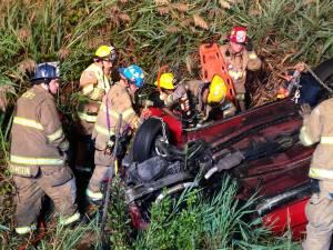 Anne Arundel County Fire Dept. on scene of a recent crash. Photo Anne Arundel County Fire Department.