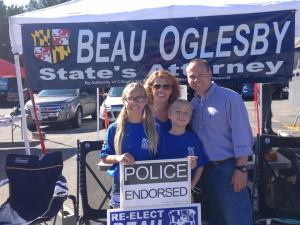 Worcester County States Attorney Beau Oglesby won a resounding victory over Democrat Michael Farlow on Nov. 4, 2014.