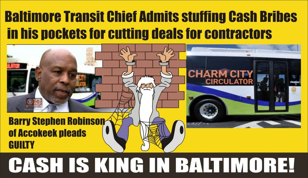 Baltimore Transit Chief admits taking cash bribes