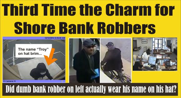 Three banks robbed in 24 hours