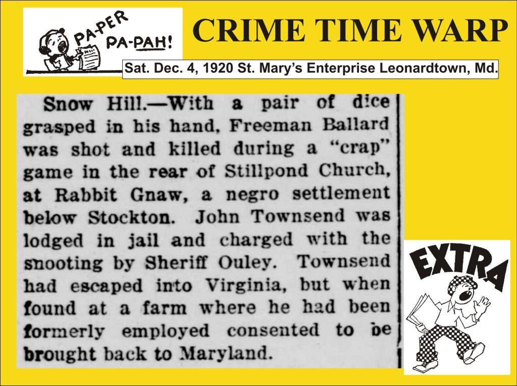 Crime Time Warp Dec 4 1920