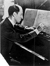 George Gershwin at piano