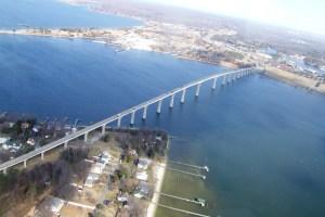 Governor Thomas Johnson Bridge at Solomon's Island, Maryland THE CHESAPEAKE TODAY photo