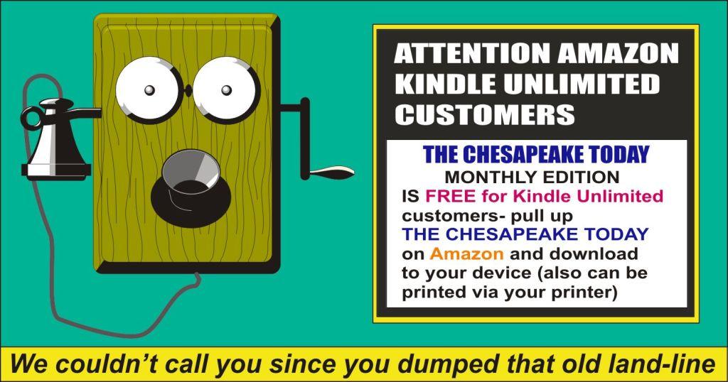 The Chesapeake Today Amazon promo