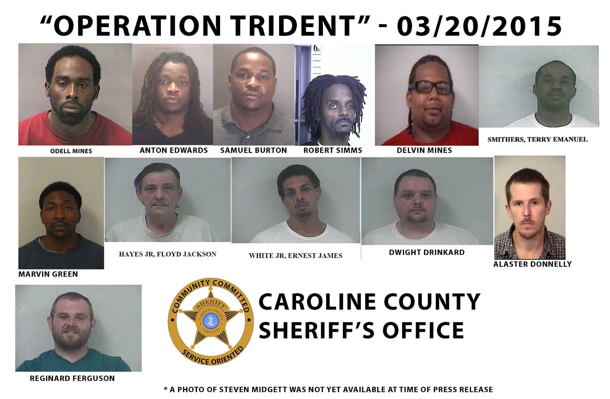 Virginia Police Beat: Caroline Sheriff Tony Lippa reports sweep of