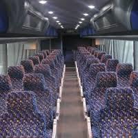 interior of inter-city bus
