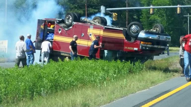 Bloxum ambulance ran red light and killed patient Accomack Co Va Rt. 13. Photo courtesy of WTKR
