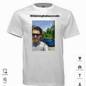 Corvette bragging rights on tee shirt