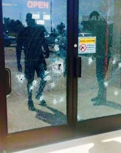Gun free zone sign on recruiting office failed to protect those inside