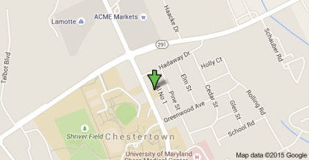 Chestertown fire destroys building used by Washington College located in center of town. image from Google