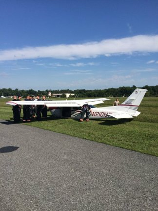 Tipton Airport belly landing AACFD photo