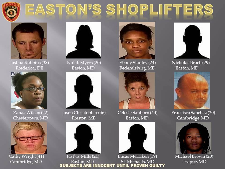 Easton Police Shoplifters Sept 2015