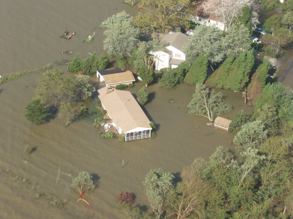 Many waterfront homes in the Chesapeake Bay region had a lot more water than before the storm struck.