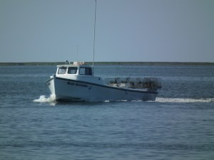Workboat at the end of day. THE CHESAPEAKE TODAY photo