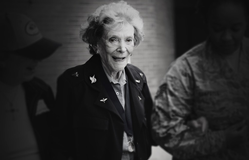 "Bernice ""Bee"" Falk Haydu, 94, was one of the first women to fly for the U.S. military as a member of the World War II Women Airforce Service Pilots. Haydu was one of the 1,074 qualified women pilots that graduated training between 1942, when the program began, and December 1944, when it was disbanded. After flying for the WASP, she continued a life in aviation by teaching flight lessons."