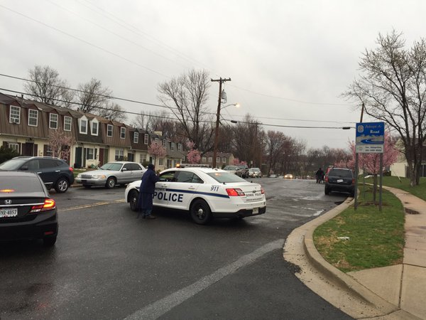 Officer shot outside District III station of Prince Georges Police 031316 NBC 4 photo Darcy Spencer via Twitter