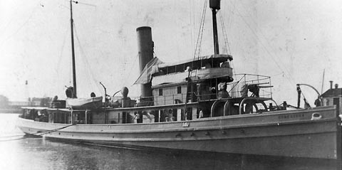 USS Conestoga tug built in Baltimore at Maryland Steel Co in Sparrows Point 1904 bought by Navy in 1917